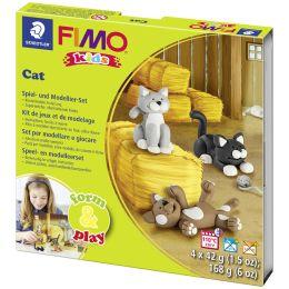 FIMO kids Modellier-Set Form & Play Cat, Level 2