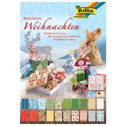 folia Motivkartonblock Weihnachten III, 240 x 340 mm