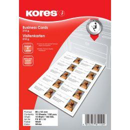Kores Visitenkarten, 86 x 54 mm, 210 g/qm, weiß, matt