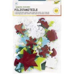 folia Bastelfilz-Stanzteile Weihnachten