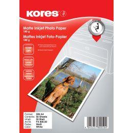 Kores Foto-Papier, DIN A4, 180 g/qm, matt