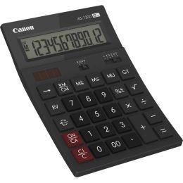 Canon Tischrechner AS-1200, Solar-/ Batteriebetrieb, schwarz