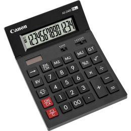 Canon Tischrechner AS-2400, Solar-/ Batteriebetrieb, schwarz