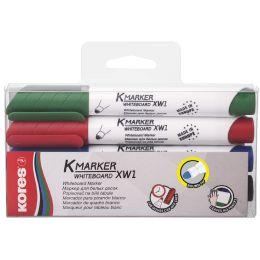 Kores Whiteboard- & Flipchart-Marker K MARKER, 4er Etui