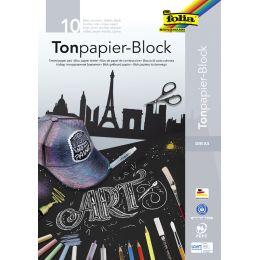 folia Tonpapierblock, DIN A4, 130 g/qm, schwarz