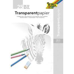 folia Transparentpapier-Block, DIN A3, 80 g/qm, 25 Blatt