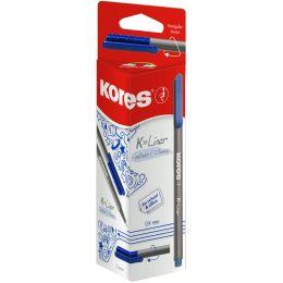 Kores Fineliner K-Liner, Strichstärke: 0,4 mm, blau