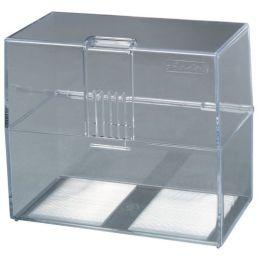 herlitz Karteikasten, DIN A7 quer, Kunststoff, transparent