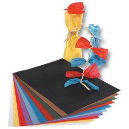 folia Strohseide, (B)470 x (H)640 mm, 25 g/qm, himmelblau