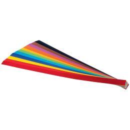 folia Flechtstreifen (B)10 x (L)500 mm, farbig sortiert