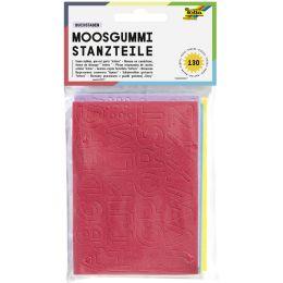 folia Moosgummi-Stanzteile Buchstaben