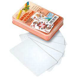 folia Blanko-Spielkarten, 65 x 100 mm, 36 Karten, weiß
