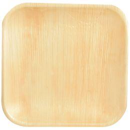 PAPSTAR Palmblatt-Teller pure eckig, 255 x 255 mm, 25er