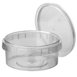 PAPSTAR Feinkost-Becher, rund, 480 ml, transparent