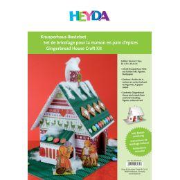 HEYDA Knusperhaus-Bastelset, aus weißem Karton