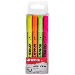 Kores Textmarker-Pen, Keilspitze: 0,5 - 3,5 mm, 4er Etui