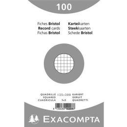 EXACOMPTA Karteikarten, 125 x 200 mm, kariert, weiß