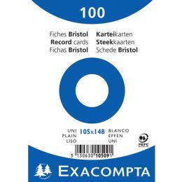 EXACOMPTA Karteikarten, DIN A6, blanko, weiß