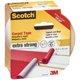 Scotch Teppichklebeband extra stark, 50 mm x 20 m, weiß