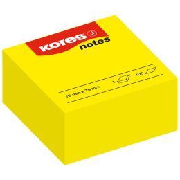 Kores Haftnotizen Würfel notes, 75 x 75 mm, blanko, gelb