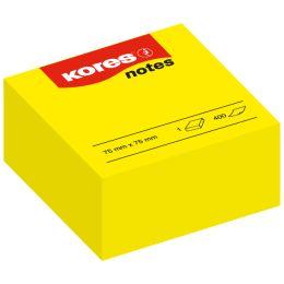 Kores Haftnotizen Würfel notes, 75 x 75 mm, blanko, gelb