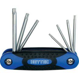 HEYTEC T-Winkelschraubendrehersatz, 7-tlg, Handklapphalter