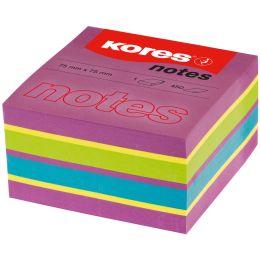 Kores Haftnotizen Würfel, 50 x 50 mm, neonfarben, 5-farbig
