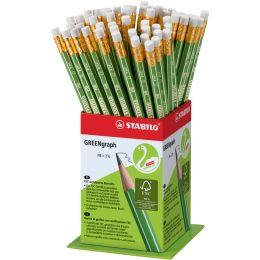 STABILO Bleistift GREENgraph, Härtegrad: HB, 60er Display