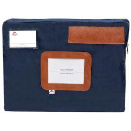 ALBA Banktasche POCSOU B mit Dehnfalte, aus Nylon, blau