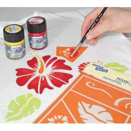 KREUL Textilfarbe JAVANA Metallic, Creativset 6 x 20 ml