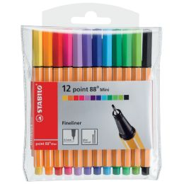 STABILO Fineliner point 88 Mini, 5er Kunststoff-Etui