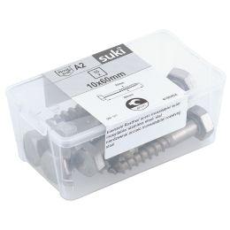 suki. Schlüsselschraube, Edelstahl, 10x60 mm, 10 Stück
