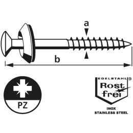 suki. Spenglerschraube 4,5x25 mm, PZ2, 100 Stück