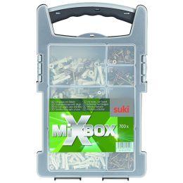 suki. Mixbox Spanplattenschrauben mit Dübeln, 700 teilig