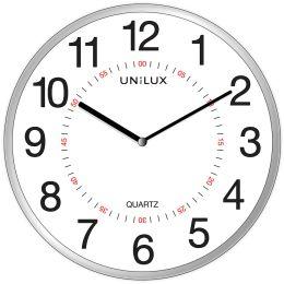 UNiLUX Wanduhr/Quarzuhr ARIA, Durchmesser: 285 mm, silber