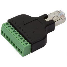 LogiLink RJ45 Stecker - Terminal Block, schwarz/grün