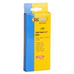 TACWISE Nägel für Tacker, 180/15 mm (18G/15), verzinkt