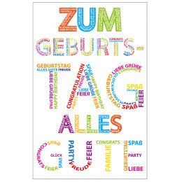 SUSY CARD Geburtstagskarte Typographie