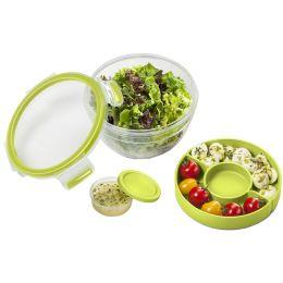 emsa Salatbox CLIP & GO, 1,0 Liter, transparent / grün