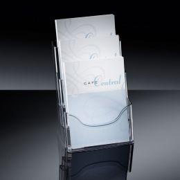 sigel Tisch-Prospekthalter acrylic, DIN A4, mit 3 Fächern