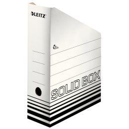 LEITZ Archiv-Stehsammler Solid, DIN A4, weiß/schwarz
