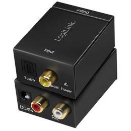 LogiLink Audio Konverter, Digital auf Analog, SPDIF/Koaxial