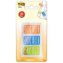 Post-it Haftmarker Index Pfeile SIGN HERE, 25,4 x 43,2 mm