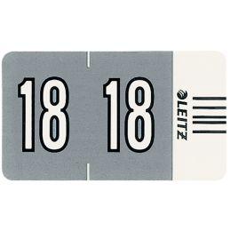 LEITZ Jahressignal Orgacolor 18, auf Streifen, grau