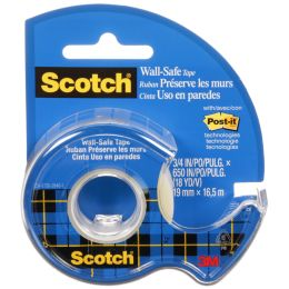 Scotch Klebefilm Wall-Safe, im Handabroller, 19mm x 16,5m