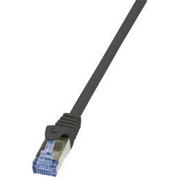 LogiLink Patchkabel PrimeLine, Kat.6A, S/FTP, 0,25 m,schwarz