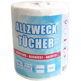 Fripa Tissue Allzweck-Reinigungstücher, weiß, auf Rolle