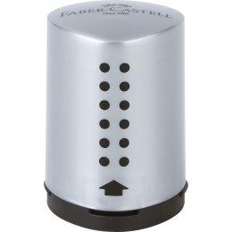 FABER-CASTELL Einfachspitzdose GRIP 2001 Mini, silber