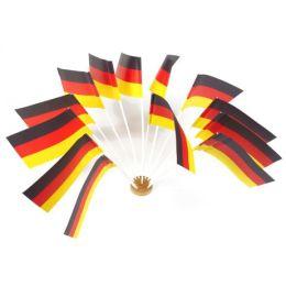 PAPSTAR Flaggen mit Stiel Germany, schwarz/rot/gelb