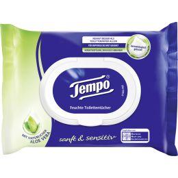 Tempo Feuchte Toilettentücher sanft & sensitiv,mit Aloe Vera